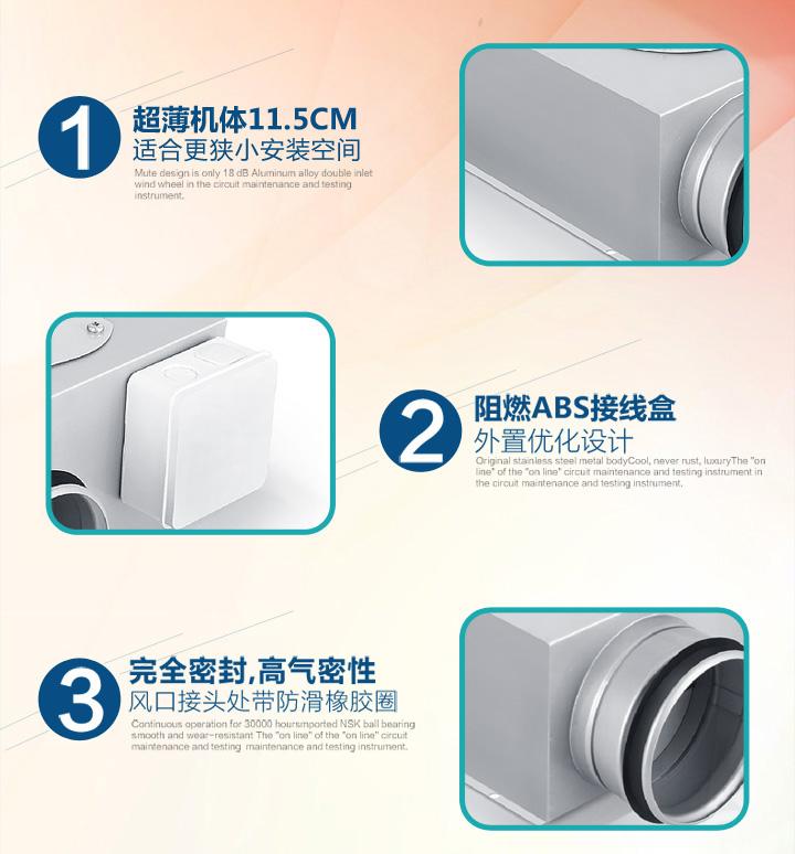 纳新超薄排气扇产品特色
