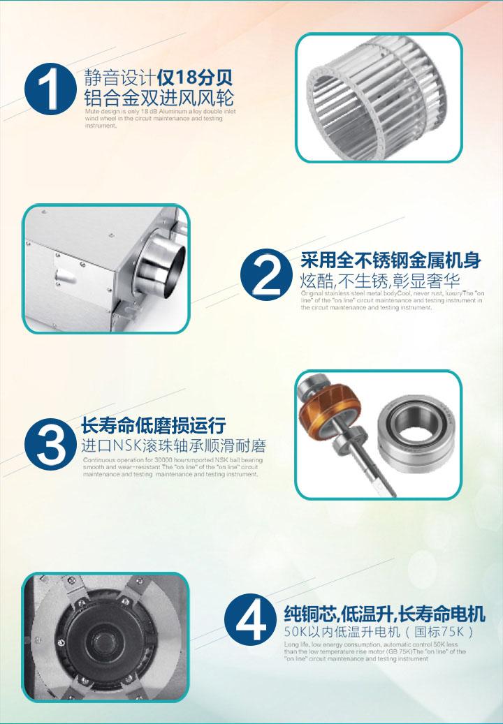 FV-12NL3C静音送风机产品特色